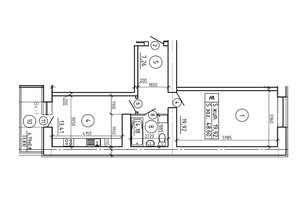 ЖК просп. Лушпи, корп. 6: планування 1-кімнатної квартири 48.6 м²