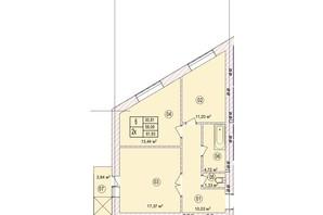 ЖК the Best Village: планування 2-кімнатної квартири 61.93 м²