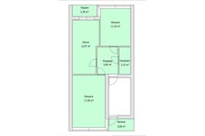 ЖК the Best Village: планування 2-кімнатної квартири 53 м²