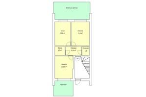 ЖК the Best Village: планування 2-кімнатної квартири 43.5 м²