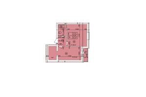 ЖК the Best Village: планування 1-кімнатної квартири 43.27 м²