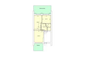 ЖК the Best Village: планування 2-кімнатної квартири 44.09 м²