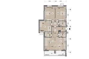 ЖК ул. Евгена Маланюка (Сагайдака), 101: планировка 4-комнатной квартиры 115.32 м²