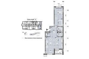 ЖК ул. Евгена Маланюка (Сагайдака), 101: планировка 2-комнатной квартиры 73.28 м²