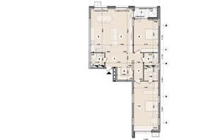 ЖК ул. Евгена Маланюка (Сагайдака), 101: планировка 2-комнатной квартиры 121.99 м²