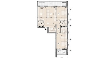 ЖК ул. Евгена Маланюка (Сагайдака), 101: планировка 3-комнатной квартиры 112.51 м²