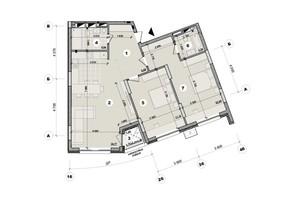 ЖК ул. Евгена Маланюка (Сагайдака), 101: планировка 2-комнатной квартиры 94.63 м²