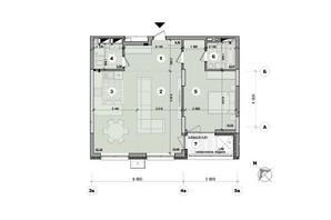 ЖК ул. Евгена Маланюка (Сагайдака), 101: планировка 2-комнатной квартиры 74.66 м²