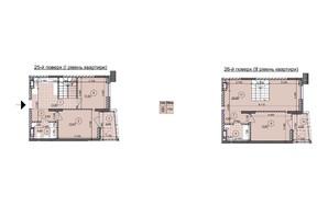 ЖК ул. Евгена Маланюка (Сагайдака), 101: планировка 2-комнатной квартиры 97.23 м²