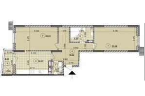 ЖК ул. Евгена Маланюка (Сагайдака), 101: планировка 2-комнатной квартиры 86.11 м²