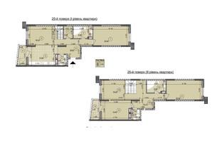 ЖК ул. Евгена Маланюка (Сагайдака), 101: планировка 3-комнатной квартиры 165.31 м²