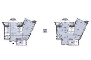 ЖК ул. Евгена Маланюка (Сагайдака), 101: планировка 2-комнатной квартиры 133.72 м²