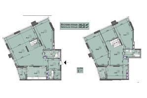 ЖК ул. Евгена Маланюка (Сагайдака), 101: планировка 5-комнатной квартиры 245.45 м²