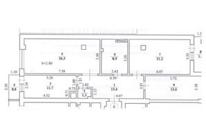 ЖК ул. Карпинца, 9А: планировка 3-комнатной квартиры 98.4 м²