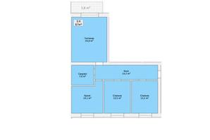 ЖК ул. Малиновского: планировка 3-комнатной квартиры 87 м²