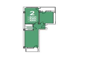 ЖК ул. Степана Бандеры 23: планировка 2-комнатной квартиры 67 м²