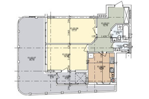 ЖК ул. Трускавецкая: планировка 2-комнатной квартиры 74.13 м²