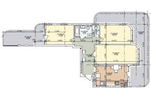 ЖК ул. Трускавецкая: планировка 3-комнатной квартиры 85.23 м²