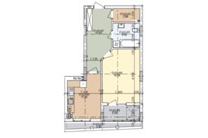 ЖК ул. Трускавецкая: планировка 1-комнатной квартиры 51.81 м²