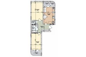 ЖК ул. Трускавецкая: планировка 2-комнатной квартиры 65.66 м²
