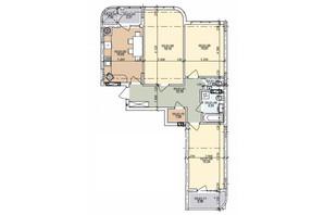 ЖК ул. Трускавецкая: планировка 3-комнатной квартиры 84.38 м²