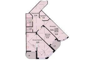 ЖК вул. Роксолани, 16: планування 3-кімнатної квартири 113.2 м²