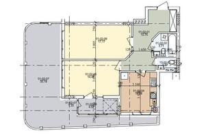 ЖК вул. Трускавецька: планування 2-кімнатної квартири 74.13 м²