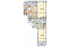 ЖК вул. Трускавецька: планування 2-кімнатної квартири 73.62 м²