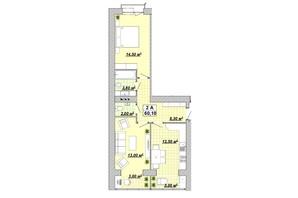 ЖР Княгинин: планировка 2-комнатной квартиры 60.1 м²