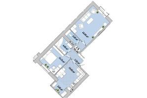 ЖР Княгинин: планировка 2-комнатной квартиры 69 м²