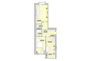 ЖР Княгинин: планировка 2-комнатной квартиры 64.9 м²