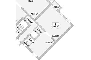 ЖР Княгинин: планировка помощения 107.3 м²
