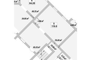 ЖР Княгинин: планировка помощения 119 м²