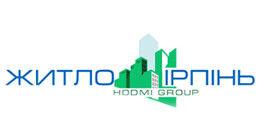 Логотип строительной компании ЖИТЛО ИРПЕНЬ HODMI GROUP
