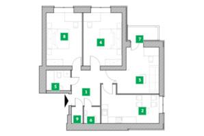Жилой комплекс Компаньон: планировка 3-комнатной квартиры 81.11 м²