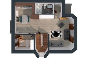 Житловий масив Дайберг: планування 6-кімнатної квартири 195 м²