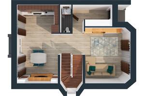 Житловий масив Дайберг: планування 4-кімнатної квартири 220 м²