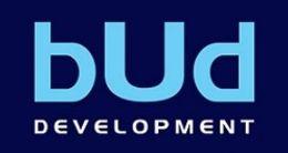 Логотип будівельної компанії bUd development (Буд Девелопмент)