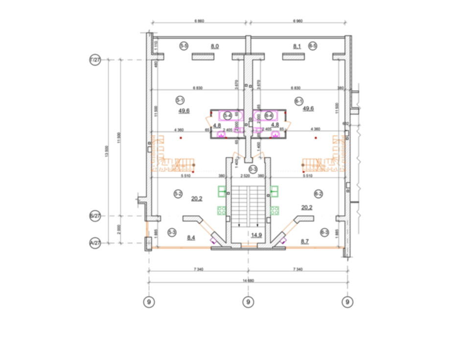 Планировка 3-комнатной квартиры в КГ проул. Пугачёва/ул. Д. Галицкого 115 м², фото 100452