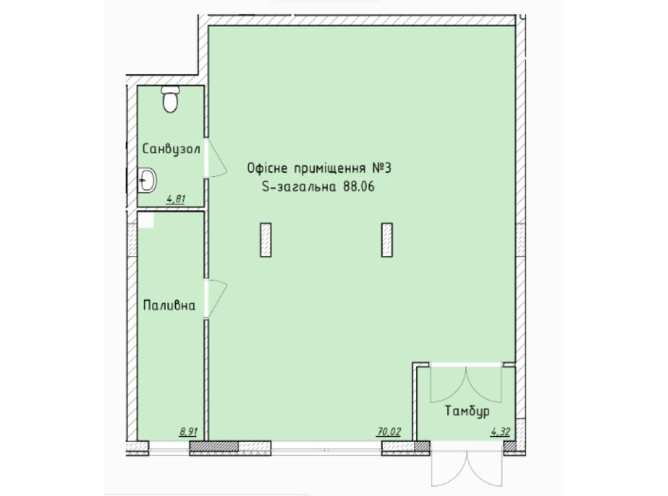 Планування приміщення в ЖК Globus Elite 87 м², фото 100747
