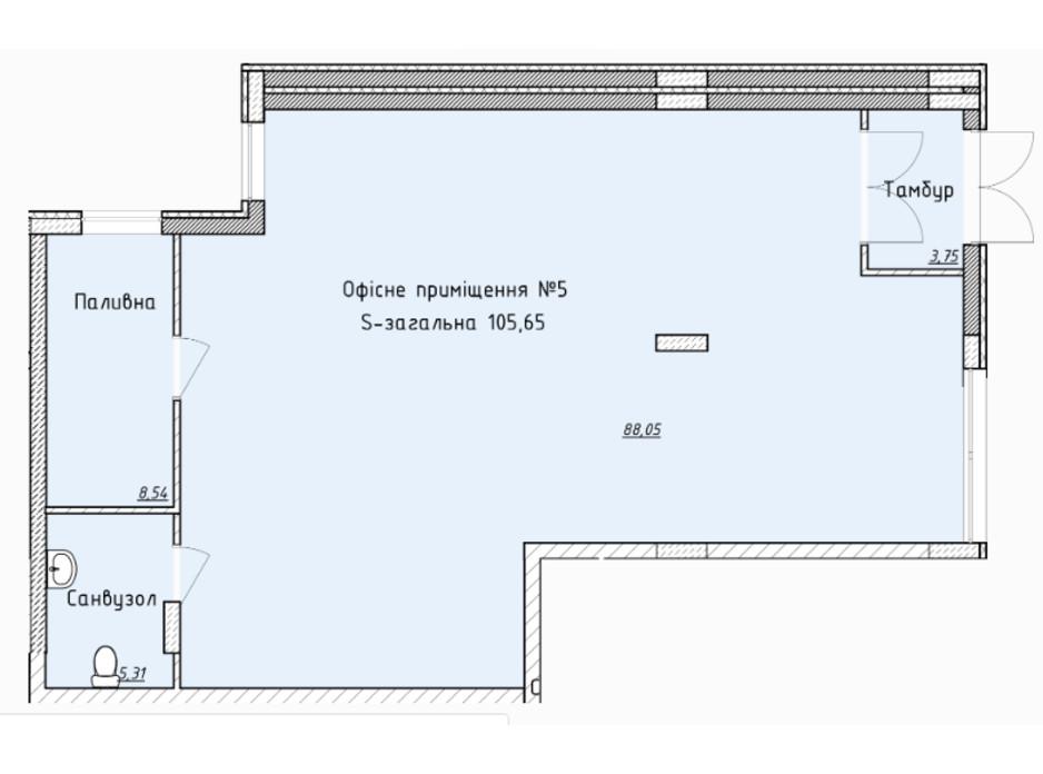 Планировка помещения в ЖК Globus Elite 102.2 м², фото 100748