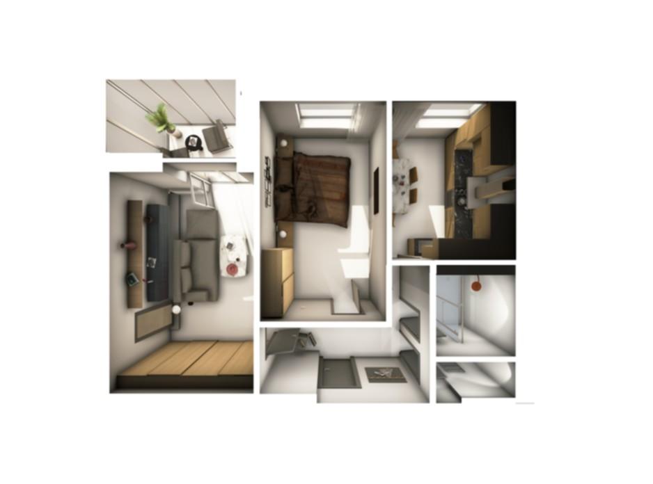 Планування 2-кімнатної квартири в ЖК Райдужний 61.12 м², фото 108430