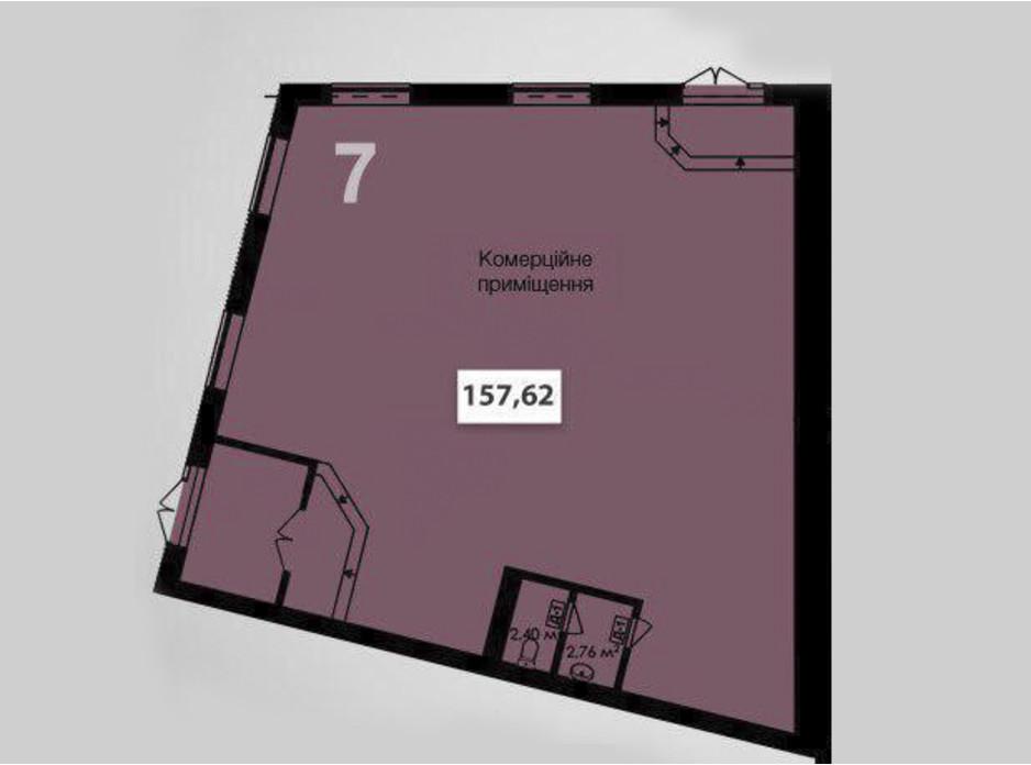 Планировка помещения в ЖК Соседи 157.62 м², фото 117725