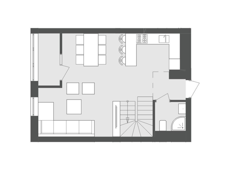 Планировка многоуровневой квартиры в ЖК Avalon Flex 96.6 м², фото 119324