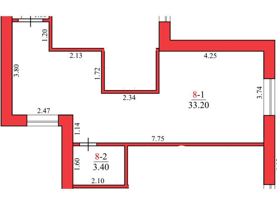 Планування 1-кімнатної квартири в ЖК Конторський 32 м², фото 122771