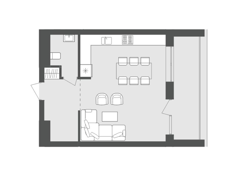 Планировка многоуровневой квартиры в ЖК Avalon Up 92.15 м², фото 125866