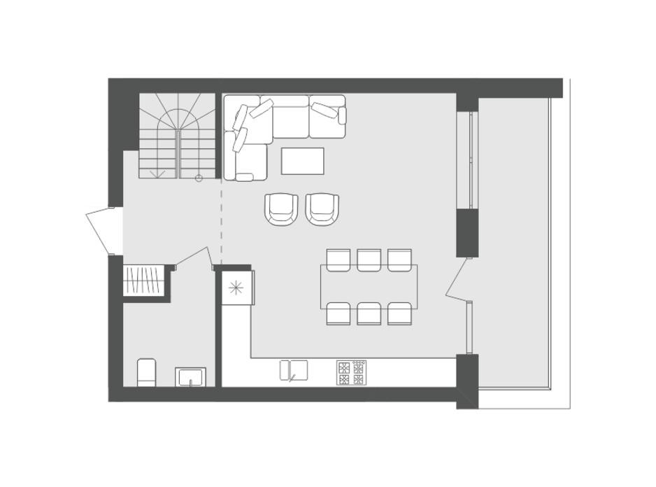 Планировка многоуровневой квартиры в ЖК Avalon Up 91.25 м², фото 137052