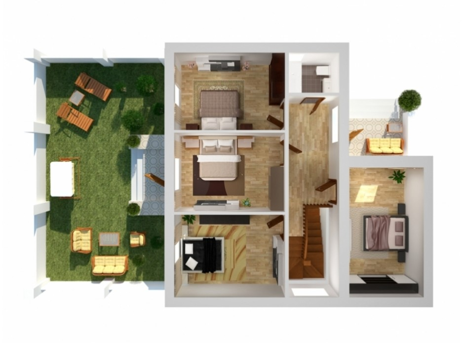 Планування багаторівневої квартири в Таунхаус Вілла Троянд 162.7 м², фото 138516