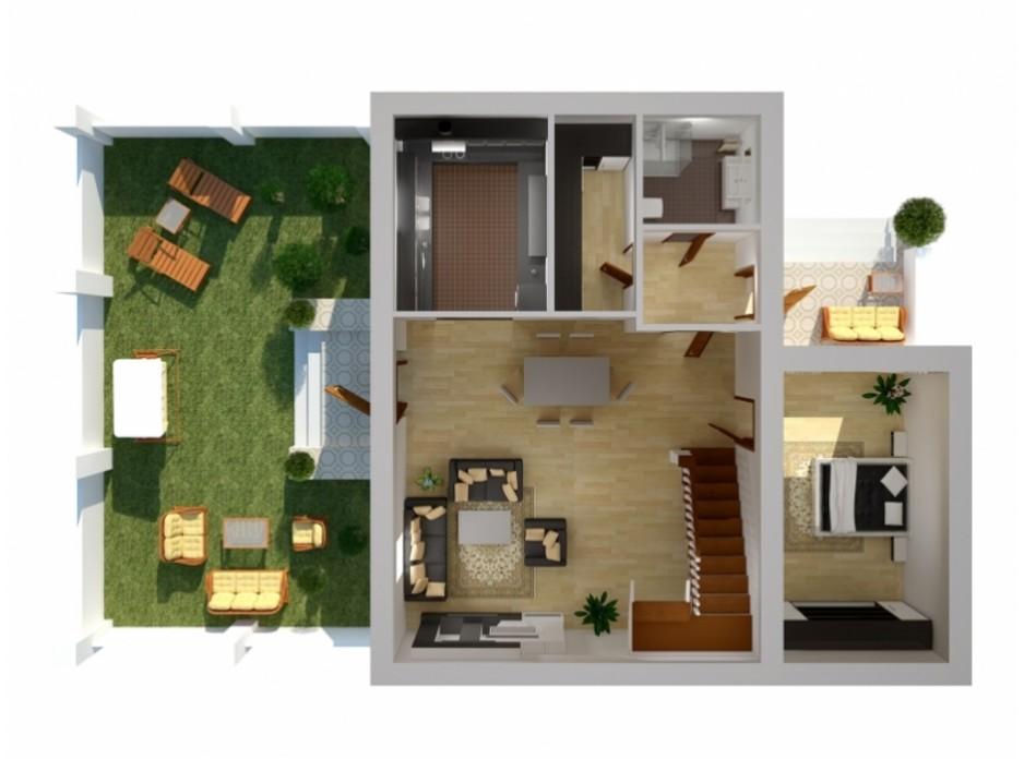 Планування багаторівневої квартири в Таунхаус Вілла Троянд 162.7 м², фото 138517