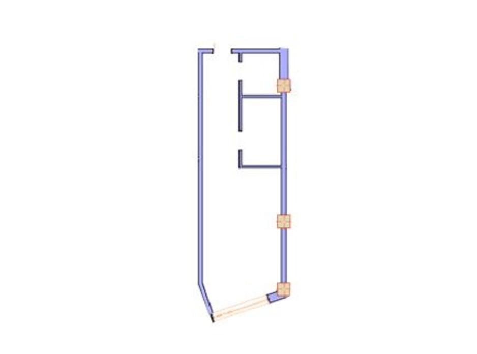 Планування 1-кімнатної квартири в ЖК Морська симфонія 43.2 м², фото 144833